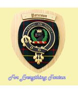 Clan Paterson Tartan Woodcarver Wooden Wall Pla... - $120.00