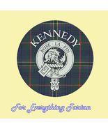 Clan Kennedy Clan Crest Tartan Cork Round Coast... - $12.00