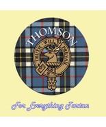Clan Thomson Clan Crest Tartan Cork Round Coast... - $12.00