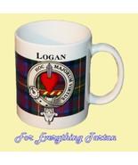 Logan Tartan Clan Crest Ceramic Mug Clan Badge ... - $29.00