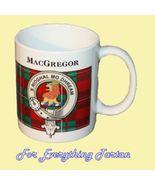 MacGregor Tartan Clan Crest Ceramic Mug Clan Ba... - $29.00