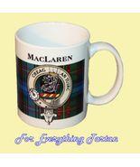 MacLaren Tartan Clan Crest Ceramic Mug Clan Bad... - $29.00
