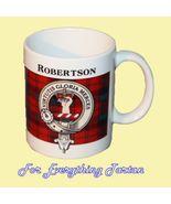Robertson Tartan Clan Crest Ceramic Mug Clan Ba... - $29.00