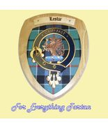 Clan Leslie Tartan Woodcarver Wooden Wall Plaqu... - $120.00