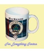 MacKenzie Tartan Clan Crest Ceramic Mug Clan Ba... - $29.00