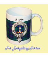 Shaw Tartan Clan Crest Ceramic Mug Clan Badge Shaw - $29.00