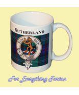 Sutherland Tartan Clan Crest Ceramic Mug Clan B... - $29.00