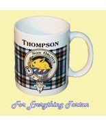 Thompson Tartan Clan Crest Ceramic Mug Clan Bad... - $29.00