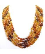 5 Strands of Hessonite Garnet Traditional Neckl... - $229.94