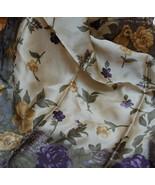 Liz Claiborne Mauve Gold Floral Silk Scarf - $12.00