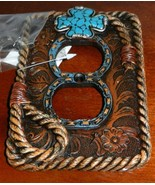 Cowboy Western Electrical Outlet Cover Resin w ... - $12.86