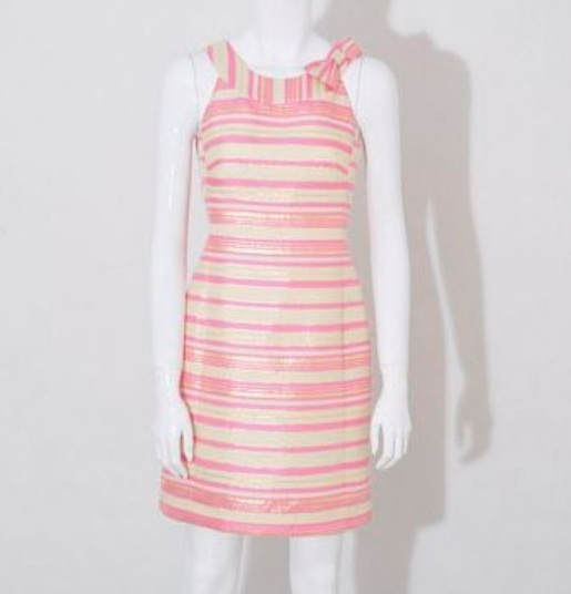 2012 NEW Lilly Pulitzer Elias silk metallic Dress 4/S $298 10% off Buy it now
