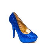 Sequin Brilliant Sapphire Blue Stiletto High He... - $199.99