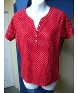 Red White Polka Dot Shirt by Jason Maxwell Top ... - $14.50
