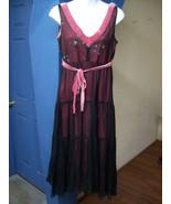Burgundy Evening Dress Chiffon And Lace Womens ... - $23.50