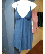 Sundress Locale Motion Blue Womens Halter Lined... - $16.50