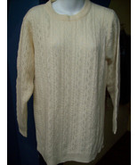 Dividends Ladys Lambswool sweater Womens Yellow... - $29.96