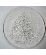 Christmas Tree Holiday Serving Etched Glass Pla... - $24.95