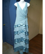 Blue Gown Dress by JS Boutique for Macy's Tiere... - $39.95