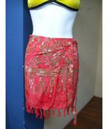 Orange Sarong Skirt by Island Heat beach wear M... - $14.50