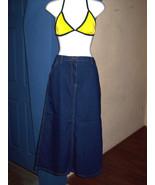 Jean Skirt Blue Womens Long Maxi A Line Lightwe... - $24.95