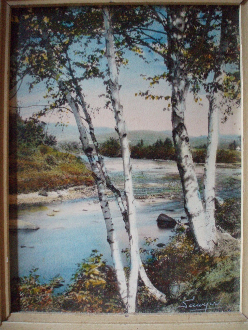 Charles H Sawyer hand painted photograph Melody
