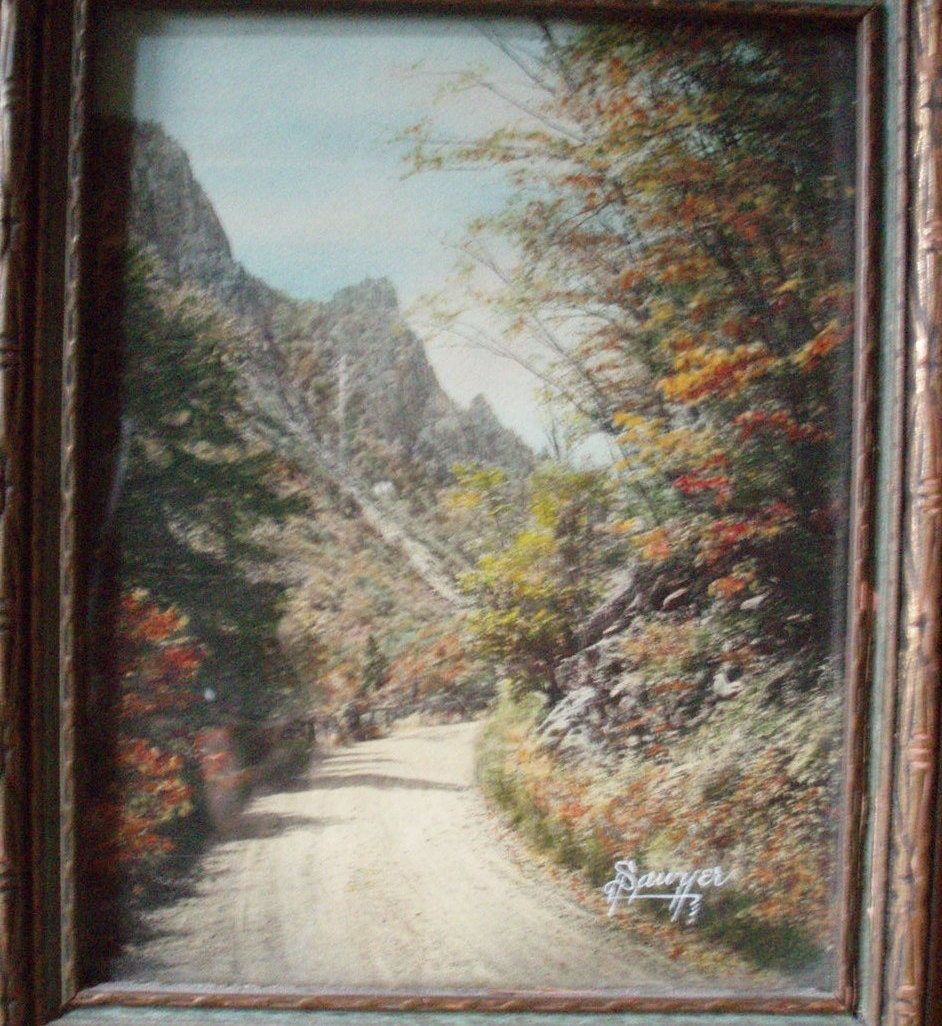 Charles H Saywer hand tint photograph Dixville Notch