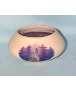 Collectible Clay Pot Howling Wolf Decorative Ca... - $6.50