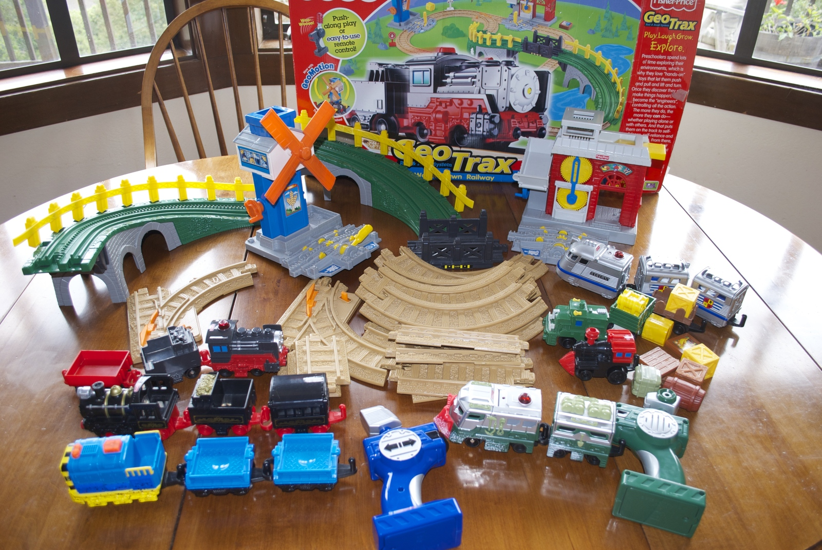GeoTrax Workin Town Railway Fisher Price Train Set With