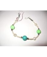 Beautiful Silver Turquoise Pearl Bracelet - $15.00