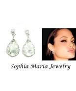 Clear dangle teardrop pear shape earrings brida... - $11.87