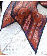 Vintage 70s Rust & Blue Paisley Sash - $7.00