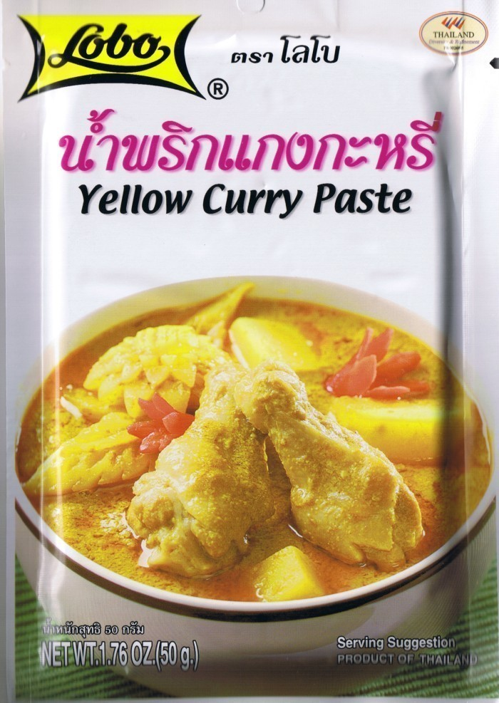 lobo thai yellow curry paste 50g spices seasonings extracts