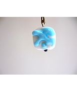 Blue Glass Handmade Lampwork Bead Lamp Pull han... - $5.00
