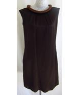 ETCETERA 6 Pebbled Silk Brown Embellished Beade... - $50.48