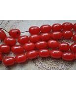 Vintage cherry amber Bakelite-necklace strand-K... - $189.05