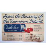 Sealed Antique patent medicine pills Triple Iro... - $8.90