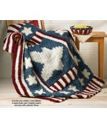 X887 Crochet PATTERN ONLY Patriotic Red White &... - $7.45
