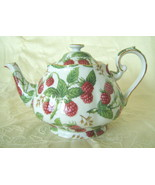 Teapot, Porcelain/China, Raspberry Chintz, Eleg... - $30.00