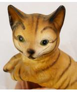 VTG Bisque Porcelain Cat Figurine Brinn's Pitts... - $14.80