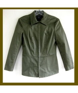 BCBG Olive green jacket Cotton 4 Fitted Chino P... - $37.99