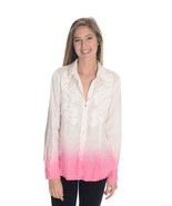6 Paperwhite Anthropologie White/Pink Ombre But... - $34.64