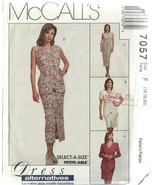 McCall's Sewing Pattern 7057 Misses Dress Jacke... - $19.98