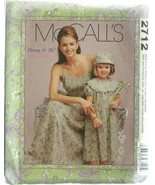 McCall's Sewing Pattern 2712 Misses Girls Dress... - $19.98