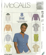 McCall's Sewing Pattern 8746 Misses Womens Top ... - $12.00