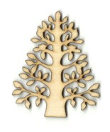 Tree Unfinished Wood Shape Craft Laser Cut Out ... - $1.40 - $8.40