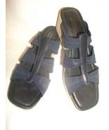 DONALD J PLINER Darja Navy Blue Elastic Slides ... - $14.99
