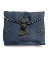 Miniature Royal Blue Silk Oriental Embroidered ... - $4.94