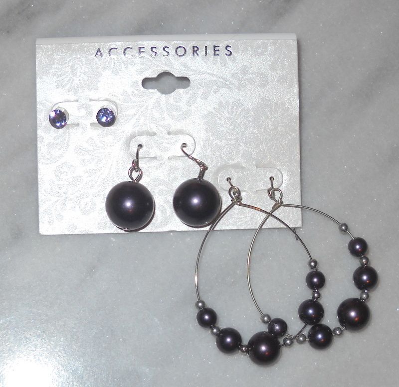 Fashion-jewelry-earrings-purple-pearl-stud-dangle-hoop