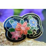 Vintage_cloisonne_black_enamel_scarf_ring_slide_multicolor_flowers_thumbtall